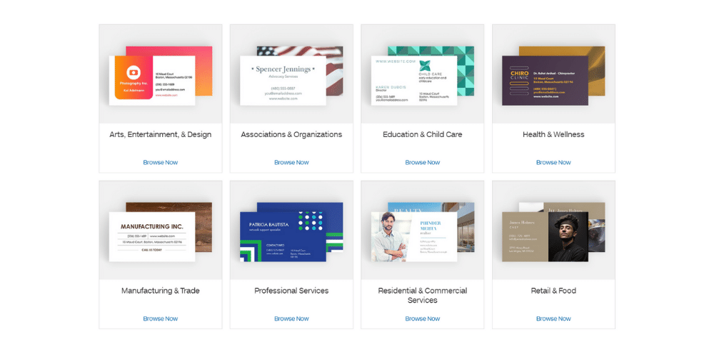 Wholesale business cards displayed on the Costco Business Printing website.