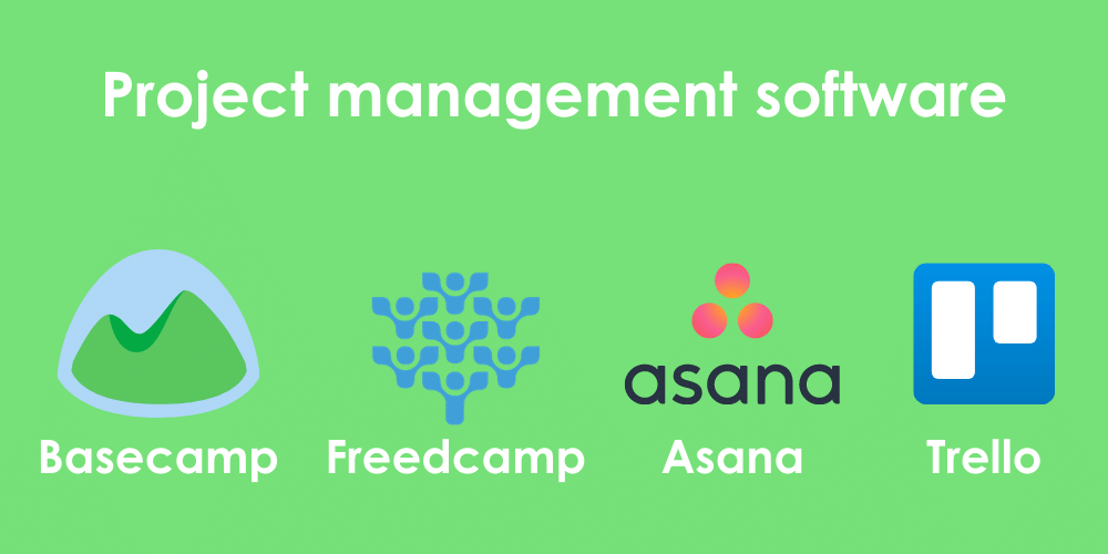 4 project management platforms to avoid the consequences of bad communication in the workplace: Basecamp, Freedcamp, Asana, and Trello.