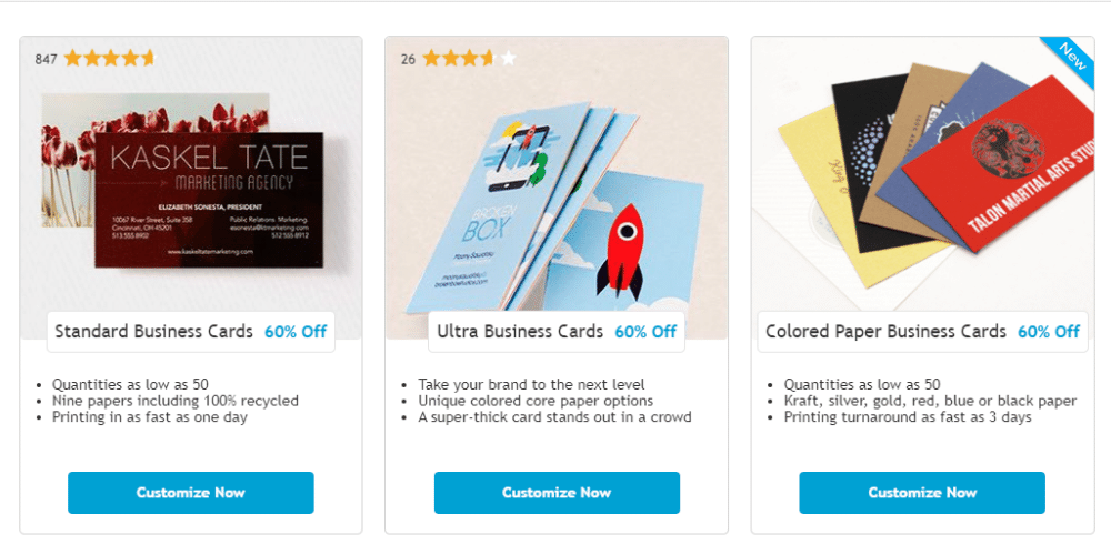 The PsPrint website selling printable merchandise.