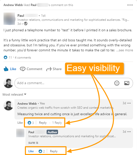 How to get more LinkedIn impressions with comments on other people's posts.
